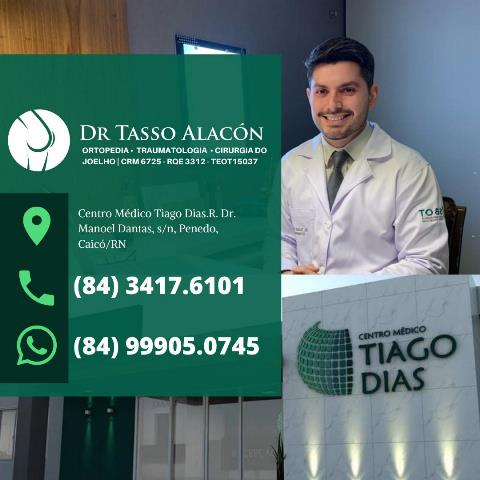 Tasso Alacón, médico ortopedista e traumatologista, especialista em Joelho