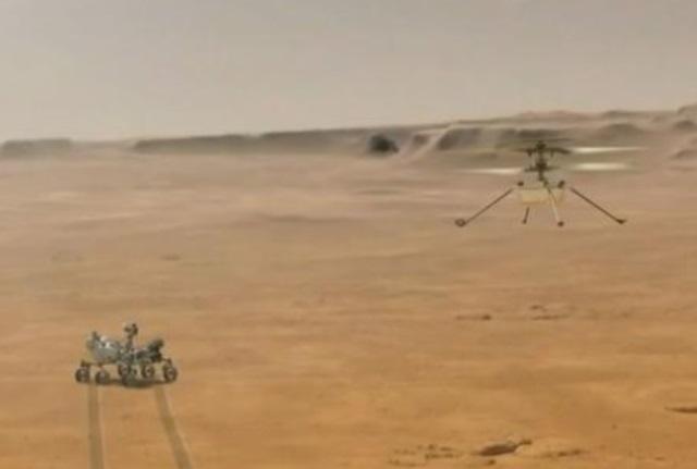 Helicóptero da Nasa, Ingenuity faz história com 1º voo sobre Marte