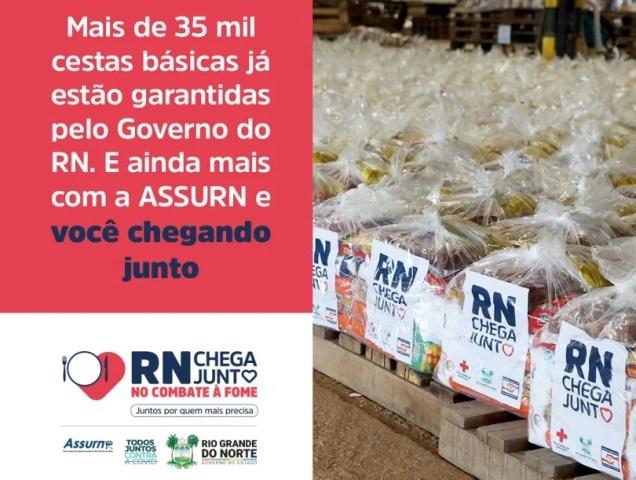 Governo inicia entrega de cestas básicas do RN Chega Junto no Combate à fome