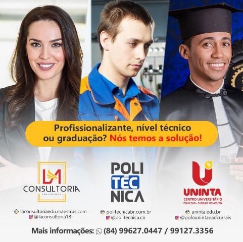 Politécnica Currais Novos, ajudando a conquistar seus objetivos profissionais; Cursos de qualidade e muito mais!