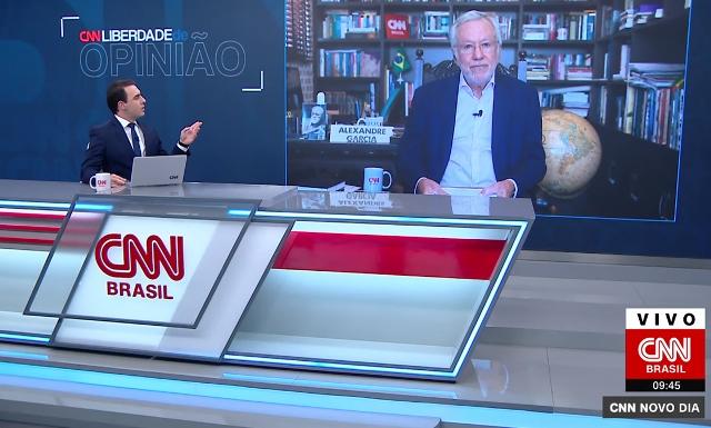 Ao vivo, Alexandre Garcia se desentende com apresentador e ameaça deixar CNN Brasil