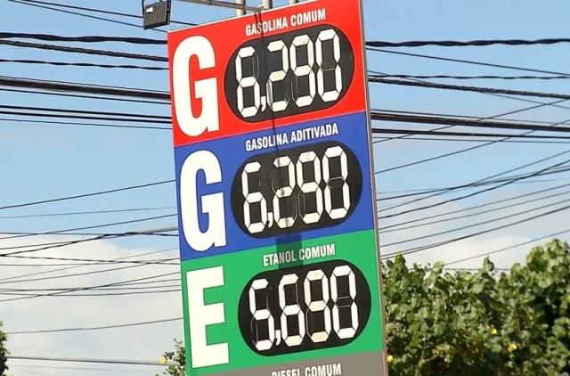 Preço do litro da gasolina comum tem novo aumento e chega a R$ 6,29 em Natal