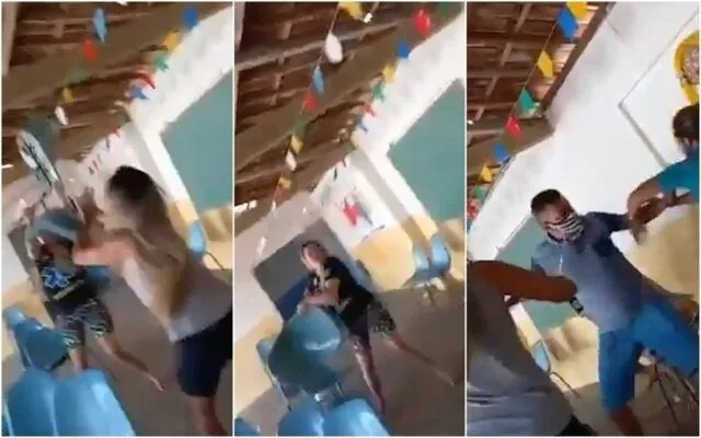 Cadeiradas, socos e xingamentos, em fila de vacinação na Paraíba viraliza nas redes sociais