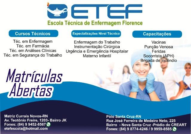 ETEF – Escola Técnica de Enfermagem Florence, a 13 anos transformando sonhos em realidade